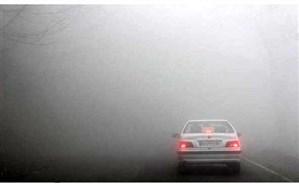 مهگرفتگی و باران در جادههای شمالی