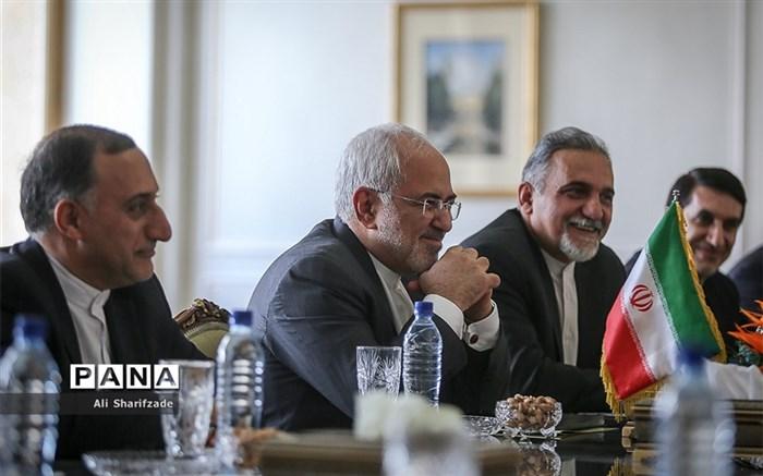 دیدار وزیر امور خارجه فرانسه با ظریف