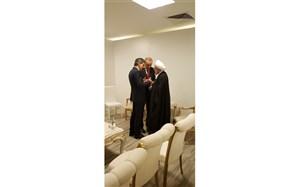 تصویر/ گفتگوی خصوصی رئیس جمهور ایران با اردوغان