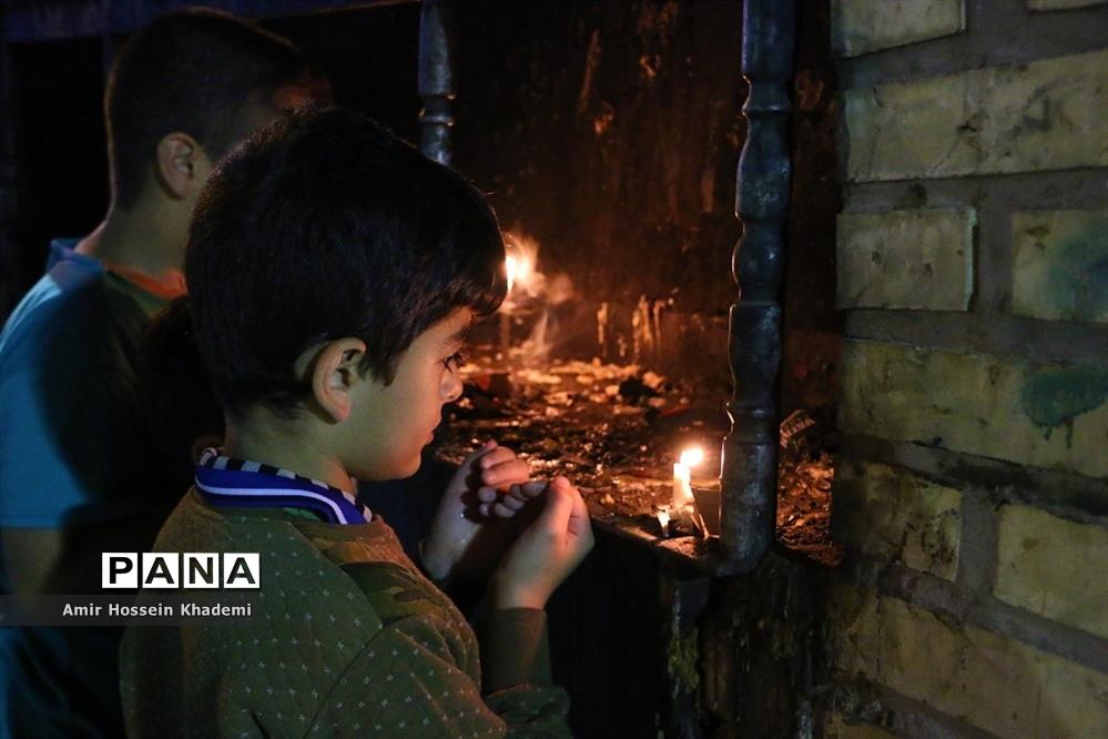 احیای شب بیست و سوم ماه رمضان در امامزادگان کرج
