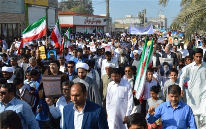لحظاتی پیش راهپیمایی روز جهانی قدس در زاهدان آغاز شد