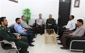 دیدار مدیر آموزش و پرورش با فرمانده جدید سپاه شهرستان دیر