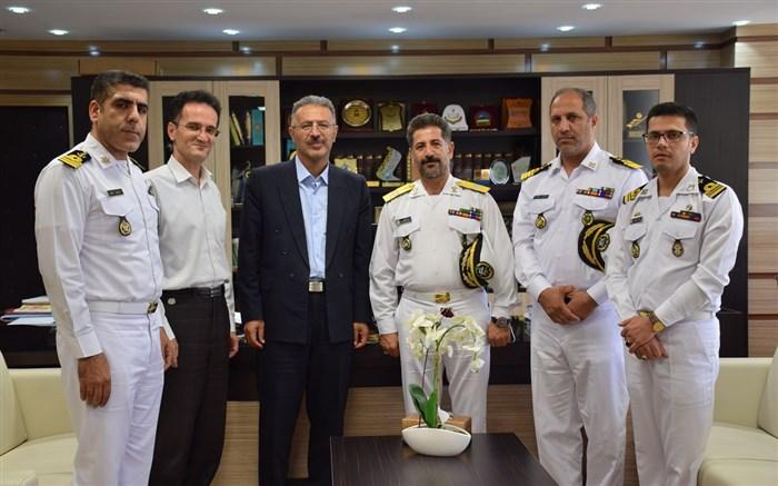 رئیس دانشگاه کردستان:بستر همکاری دانشگاه کردستان با نیروی دریایی ارتش در حوزه علمی و پژوهشی  فراهم است