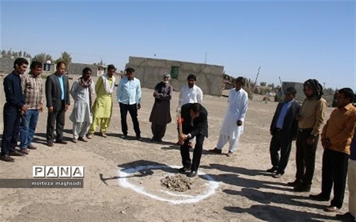 کلنگ احداث مدرسه 3 کلاسه خیرساز روستای علی آباد به زمین زده شد