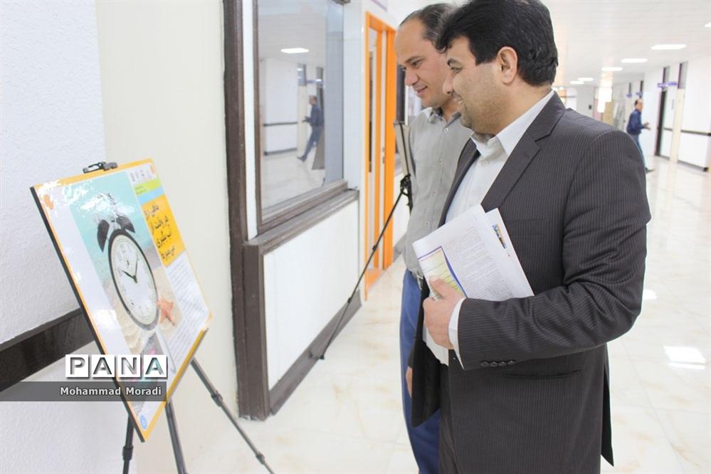 نمایشگاه سیار پیشگیری از آسیب ها  در اداره کل آموزش و پرورش استان بوشهر