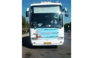80 نفر از دانش آموزان دختر طارم سفلی عازم  مشهد مقدس شدند