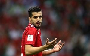 عزتالهی: مقابل اسپانیا با جان و دل بازی کردیم؛ در دیدار با پرتغال دو برابر تلاش میکنیم