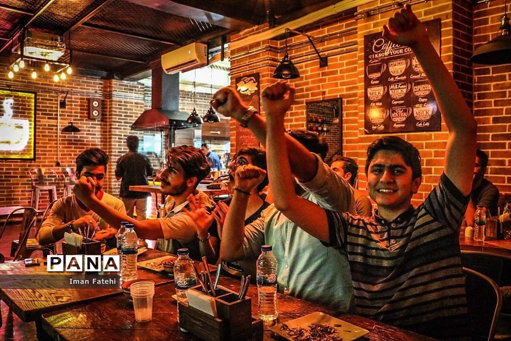 تب و تاب بازی ایران و اسپانیا در شهر