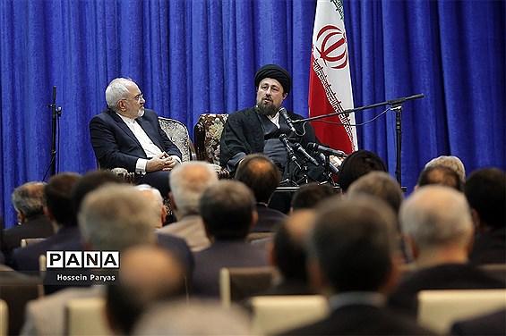 تجدید میثاق ظریف و روسای نمایندگی های ایران در جهان با آرمان های امام خمینی (ره)