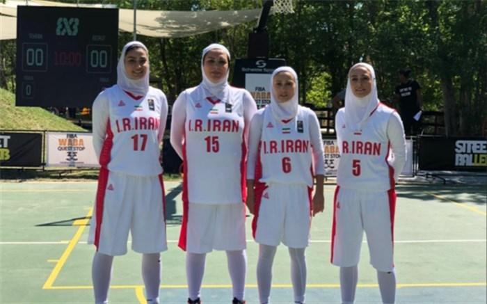 تیم ملی بسکتبال سه نفره بانوان قهرمان رقابتهای غرب آسیا شد