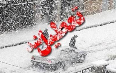 برف مدارس برخی مناطق کرمان را تعطیل کرد
